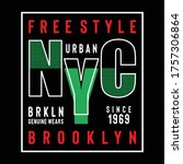 new york city typography design ...   Shutterstock .eps vector #1757306864