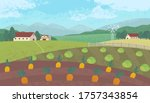 vector illustration with farm... | Shutterstock .eps vector #1757343854