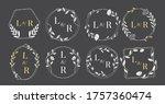 elegant floral monograms and... | Shutterstock .eps vector #1757360474