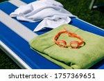 Orange Swimming Goggles Placed...