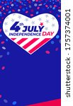 4th of july independence day....   Shutterstock .eps vector #1757374001