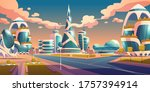 future city  futuristic glass... | Shutterstock .eps vector #1757394914