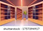 wine shop  cellar interior with ... | Shutterstock .eps vector #1757394917
