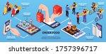 order food online isometric... | Shutterstock .eps vector #1757396717