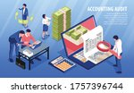 accounting audit isometric...   Shutterstock .eps vector #1757396744