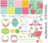 scrapbook design elements  ... | Shutterstock .eps vector #175741421
