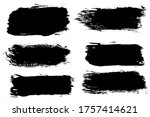 set six black strokes of paint... | Shutterstock . vector #1757414621