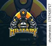 military mascot logo design... | Shutterstock .eps vector #1757420717