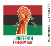 juneteenth day  emancipation... | Shutterstock .eps vector #1757436977