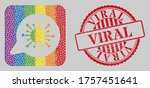 distress viral stamp and mosaic ... | Shutterstock .eps vector #1757451641