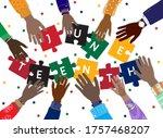 juneteenth  june 19  1865  ... | Shutterstock .eps vector #1757468207