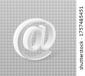email sign or at mail icon in...   Shutterstock .eps vector #1757485451