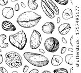 Nuts Seamless Pattern. Nuts...