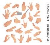 gesturing. set of hands in...   Shutterstock .eps vector #1757496497