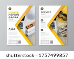 construction tools cover  back... | Shutterstock .eps vector #1757499857