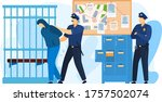 police station place  detention ... | Shutterstock .eps vector #1757502074