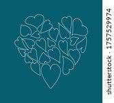 heart  abstraction. doodle...   Shutterstock .eps vector #1757529974