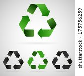 recycling symbol icons | Shutterstock . vector #175756259