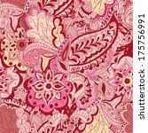 floral theme. seamless pattern... | Shutterstock . vector #175756991