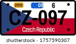 czech republic automobile... | Shutterstock .eps vector #1757590307