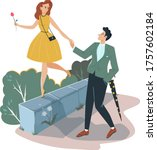 lovely romantic date  man...   Shutterstock .eps vector #1757602184