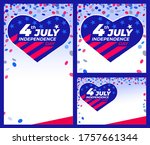 4th of july independence day....   Shutterstock .eps vector #1757661344