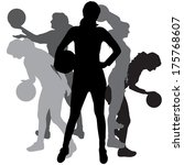 vector silhouette of a woman... | Shutterstock .eps vector #175768607