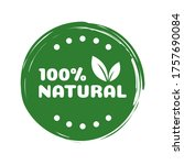 natural product label. made... | Shutterstock .eps vector #1757690084
