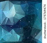 blue geometric pattern ... | Shutterstock .eps vector #175769474