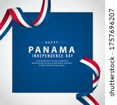 independence day of panama... | Shutterstock .eps vector #1757696207