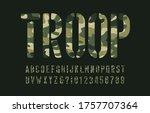 troop alphabet font. stencil... | Shutterstock .eps vector #1757707364