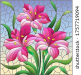 illustration in stained glass... | Shutterstock .eps vector #1757719094