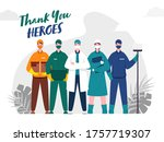 thank you to doctor  nurse ... | Shutterstock .eps vector #1757719307