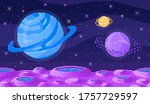 space planet in pixel art....