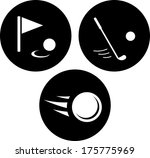 golf cup  club and ball vector... | Shutterstock .eps vector #175775969