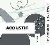 acoustic music playlist. vector ...