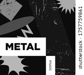 metal music playlist. vector ...