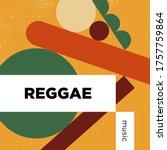 reggae music playlist. vector ...