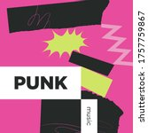 punk music playlist. vector ...