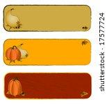 autumn   fall banners   Shutterstock .eps vector #17577724