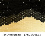 black and gold japanese... | Shutterstock .eps vector #1757804687