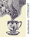 cup of coffee or tea in zen...   Shutterstock .eps vector #1757812187