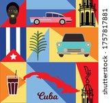 cuba pattern seamless design.... | Shutterstock .eps vector #1757817881