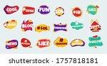social media slang doodle logos ... | Shutterstock .eps vector #1757818181
