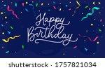 happy birthday banner or...   Shutterstock .eps vector #1757821034