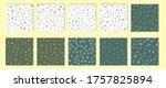 leaves seamless vector pattern. ... | Shutterstock .eps vector #1757825894
