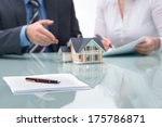 discussion with a real estate... | Shutterstock . vector #175786871