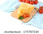 piece of cheese and tomatoes ... | Shutterstock . vector #175787234
