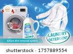 laundry detergent realistic... | Shutterstock .eps vector #1757889554