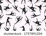 pattern of girl rhythmic... | Shutterstock .eps vector #1757891204